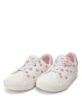 Buty dziecięce półtrampek 20-18106-białe