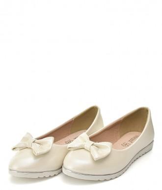 Baleriny na dziewczynkę Vinceza BOR20-13214 białe