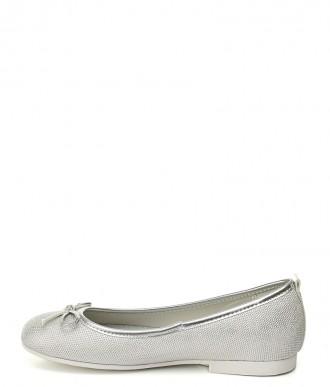 baleriny na dziewczynkę American Club -GC01/20 srebrne