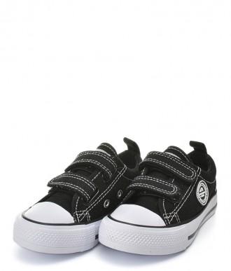 Trampki na chłopca Buty American -Półtrampek LH321 czarne / białe