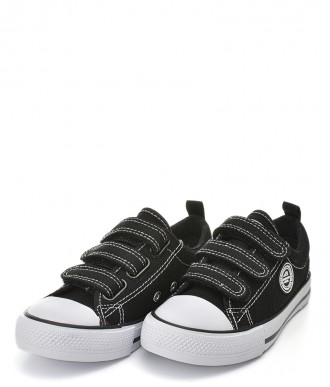Trampki na chłopca Buty American -Półtrampek LH32 czarne / białe