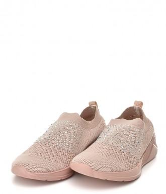 Buty American Club -Sportowe na wsuwanie AD10/19 różowe
