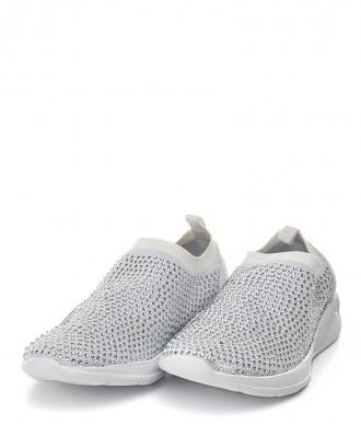 Buty American -Sportowe  na wsuwanie AD09/19 białe