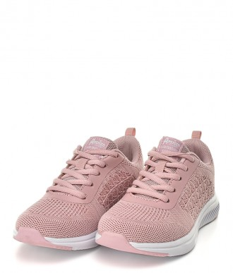 Buty American CLUB -Sportowe  na dziewczynkę HA06/19 różowe