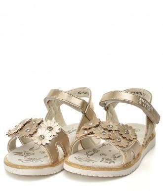 Buty American -Sportowe sandałki na dziewczynke  XD10/20 złote